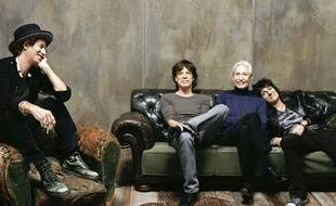 Les Rolling Stones: Keith Richards, Mick Jagger, Charlie Watts, Ronnie Wood.