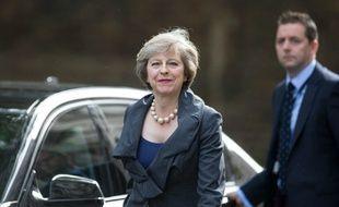 Theresa May à son arrivée le 12 juillet 2016 à Downing Street à Londres
