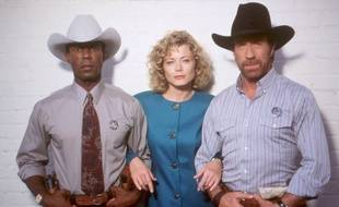 Clarence Gilyard, Sheree Wilson et Chuck Norris.