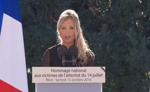 Cindy Pellegrini a perdu six membres de sa famille dans l'attentat du 14 juillet 2016 à Nice.