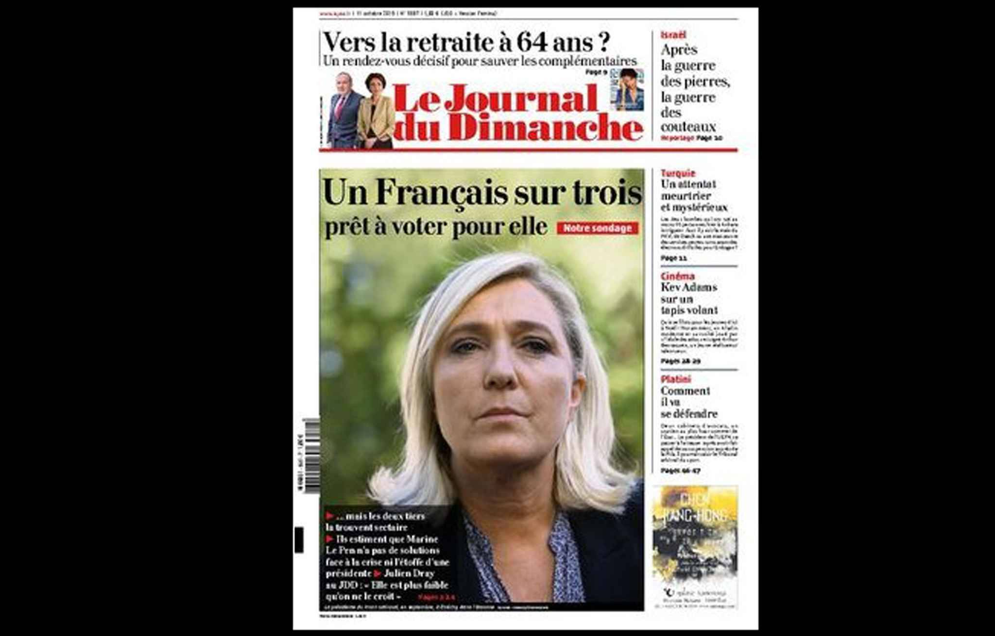 Arnaud lagard re proteste contre la une du jdd sur marine le pen - Le journal du 11 metres ...