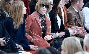 La rédactrice en chef de «Vogue» US lors du défilé automne/hiver 2020 Max Mara à la Fashion Week de Milan