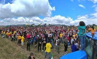 Entre 2.500 et 10.000 personnes se sont rassemblées dimanche 2 juillet pour dénoncer le projet de la future autoroute A45 entre Saint-Etienne et Lyon