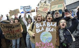 Lors de la marche pour le climat à Nantes, vendredi 15 mars 2019