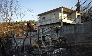 Le feu a en partie ravagé la ville de Funchal, sur l'île de Madère, le 13 août 2016