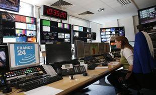 Dans la régie de France 24 en septembre 2014.
