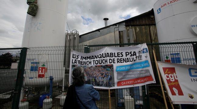 Les salariés de l'usine GM&S luttent pour préserver leurs emplois.  –  Crédit PASCAL LACHENAUD / AFP