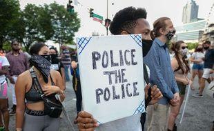 Manifestation contre les violences policières à Atlanta, le 3 juin 2020.