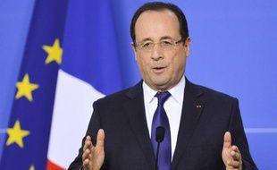 François Hollande lors du Sommet européen, le 14 décembre 2012 à Bruxelles.