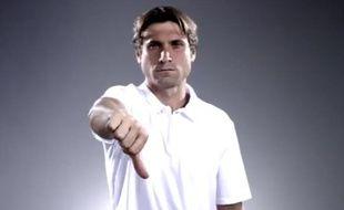Capture d'écran d'une campagne contre la violence en Espagne à laquelle a participé David Ferrer.