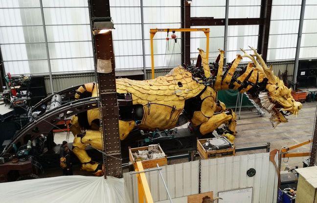 Le cheval-dragon Long Ma dans son atelier nantais.