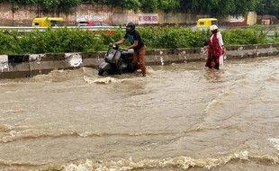 Une inondation en Inde, illustration