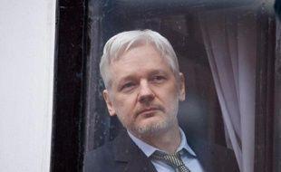le fondateur de Wikileaks Julian Assange à l'intérieur de l'ambassade d'Equateur à Londres, le 5 février 2016