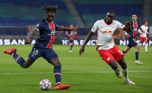 Upamecano, ici avec Leipzig face au PSG, jouera au Bayern la saison prochaine.