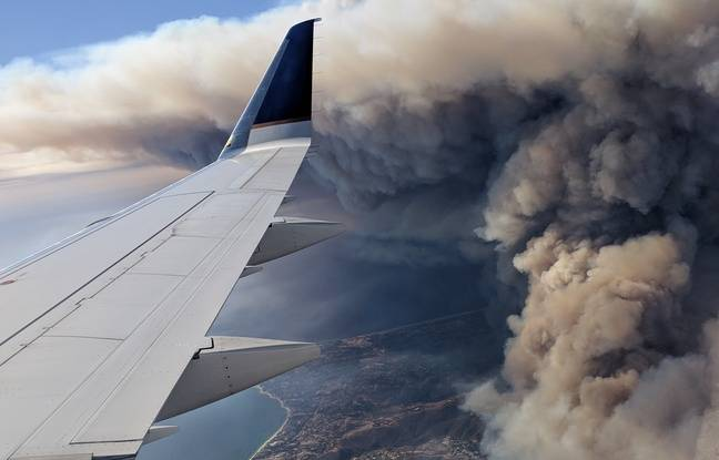Le Woolsey fire vu du ciel, près de Los Angeles, le 10 novembre 2018.