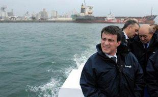 Le Premier ministre, Manuel Valls, en visite en Bretagne, le 18 décembre 2014 à Brest