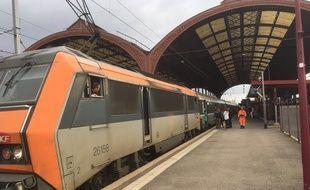 Un Intercité en gare de Strasbourg le 7 avril 2019.
