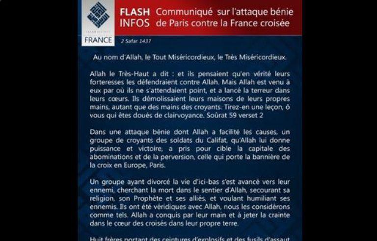 enfant grande remise Clairance de 60% Attentats de Paris: Les djihadistes de Daesh revendiquent ...
