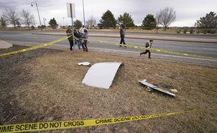 Des débris de l'avion de United Airlines à Broomfield dans le Colorado, le 20 février 2021.