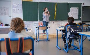 Une école déconfinée, ici à Boulogne-Billancourt.