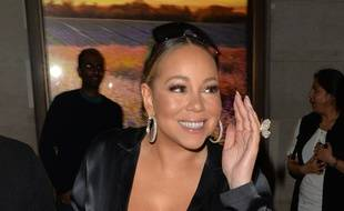 La chanteuse Mariah Carey à Londres