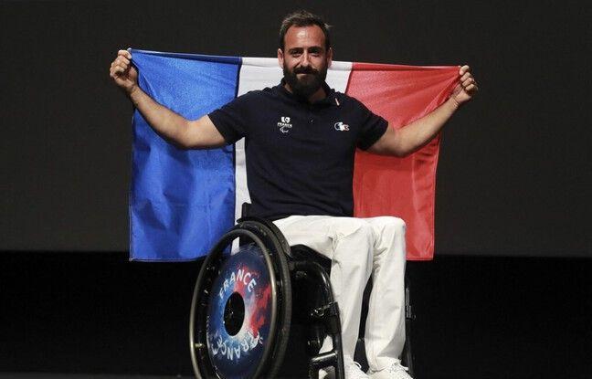 Michaël Jérémiasz était le porte-drapeau de l'équipe de France aux Jeux Paralympiques de Rio, en 2016.