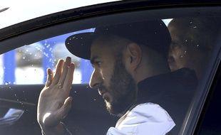 Karim Benzema à son arrivée au centre d'entraînement du Real Madrid, le 6 novembre 2015.