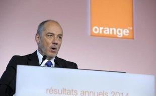 Le PDG d'Orange Stéphane Richard à Paris, le 17 février 2015