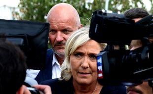 Marine Le Pen en visite à Châlons-en-Champagne, le 7 septembre 2018.