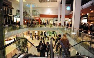 Lecentre commercial Velizy 2, en région parisienne, en janvier 2012.