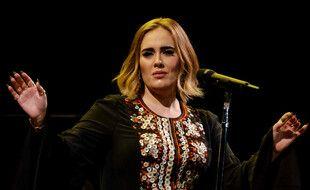 La chanteuse Adele au festival de Glastonbury