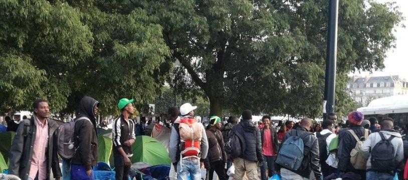 Les migrants du suqare Daviais, le 20 septembre 2018