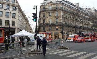 Le boulevard des Capucines est bloqué ce mardi matin en raison d'un incendie au Ritz