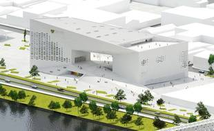 Vue de la future MECA, Maison de l'économie créative et de la culture en Aquitaine