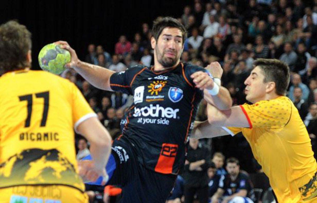 Nikola Karabatic face à Chambéry le 1er mars 2012 – P.GUYOT/AFP