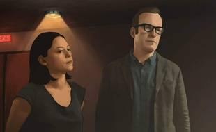 Alma et Jacob, les héros de la série d'animation «Undone».