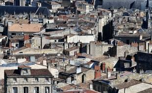 Le centre-ville de Bordeaux. UGO AMEZ/SIPA