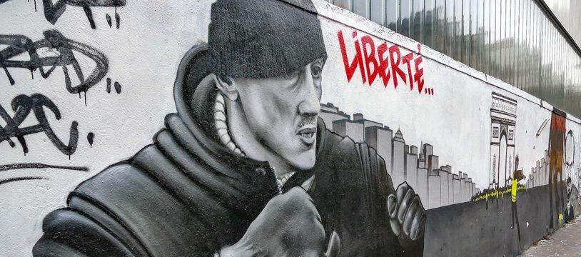 Fresque murale du boxeur Christophe Dettinger