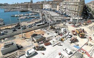 Les travaux du Vieux-Port ont commencé le 19mars dernier pour devenir l'agora de Marseille Provence 2013.