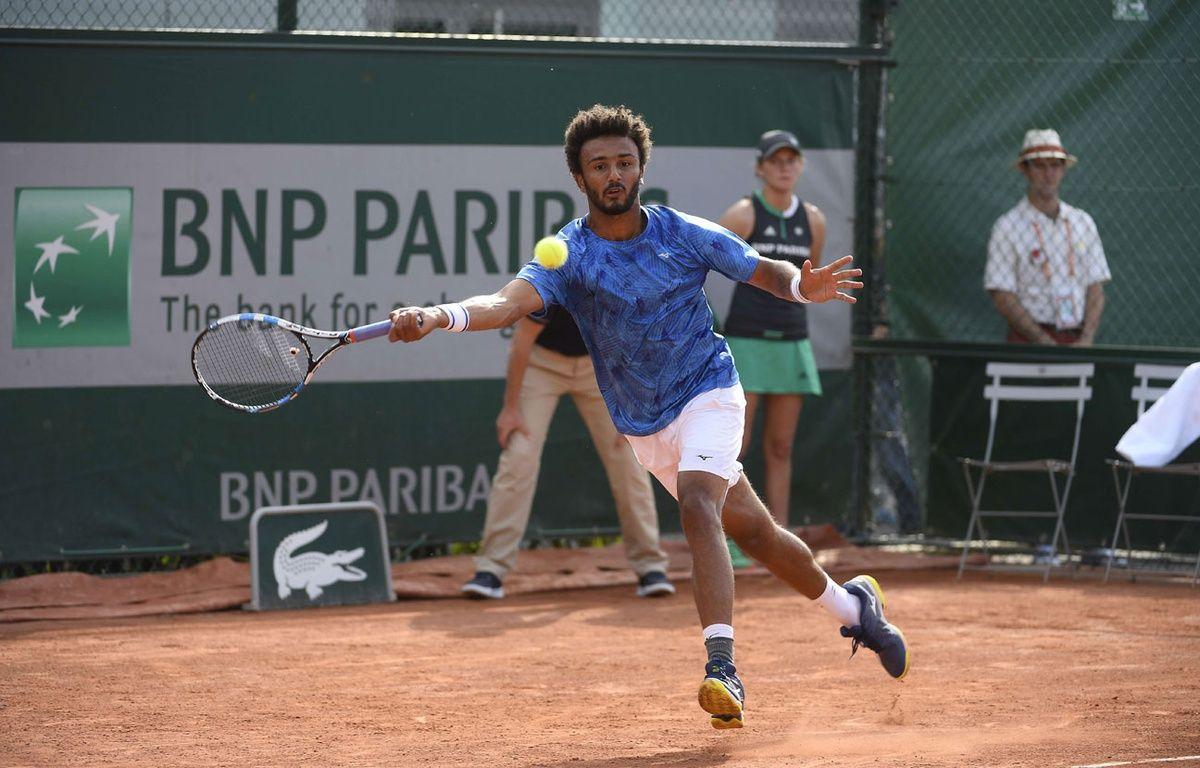 Maxime Hamou lors du premier tour de Roland-Garros 2017 – SIPA