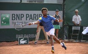 Maxime Hamou lors du premier tour de Roland-Garros 2017