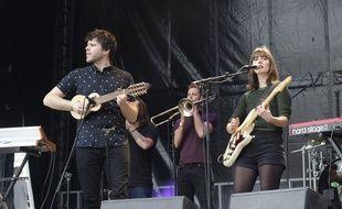 Le groupe français Monterosso lors du Chorus festival 2018 à la Seine Musicale à Boulogne-Billancourt.