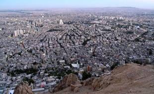 Vue de Damas, capitale de Syrie.
