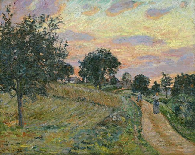 «Route à Damiette», d'Armand Guillaumin, au musée d'arts de Nantes.
