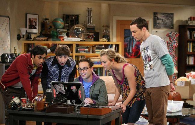 Kunal Nayyar, Simon Helberg, Johnny Galecki, Kaley Cuoco, et Jim Parsons dans «The Big Bang Theory».