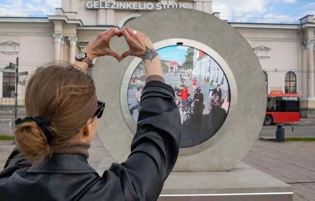 La ville de Vilnius en Lituanie ouvre un «portail» vers une autre ville