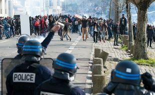 Manifestation contre la loi Travail à Nantes le 17 avril. S.Salom-Gomis/Sipa