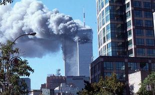 Le World Trade Center en feu