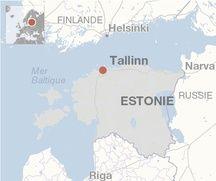 Carte de localisation de Tallinn (Estonie).
