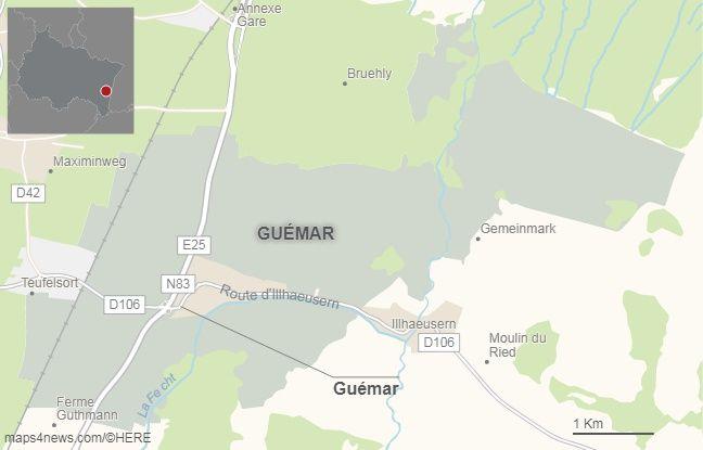 La commune de Guémar, dans le Haut-Rhin.